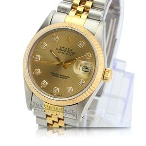 Rolex Datejust Champagne Dial 36mm Watch